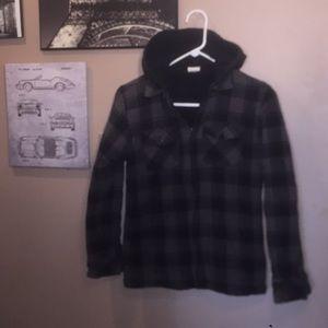 🍁🍁Ladies plaid hooded jacket 🍁🍁